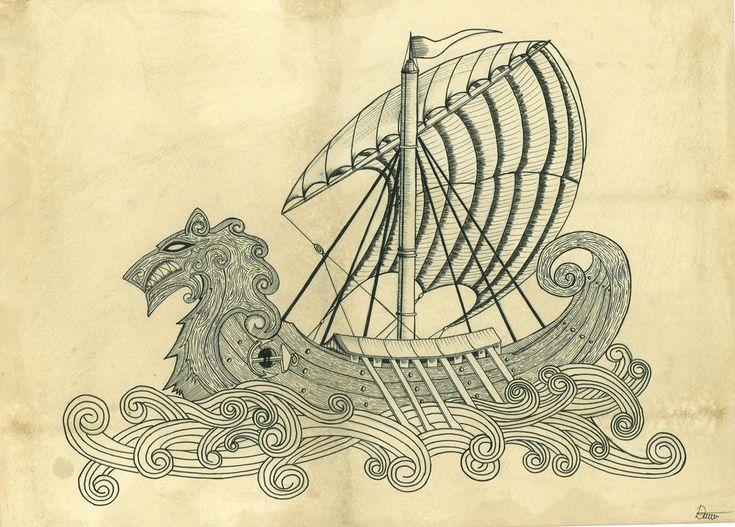 Viking Ship (Practice) by Danijel-Knez.deviantart.com on @deviantART