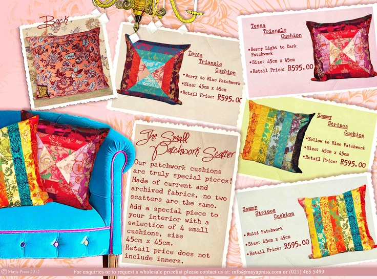 The small Patchwork Scatter Cushion