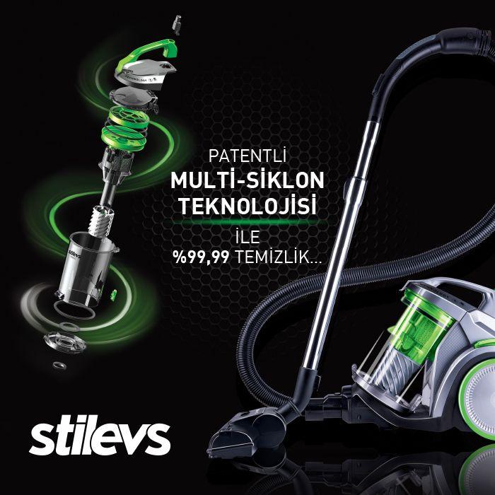 Stilevs Megatron'un patentli multi-siklon teknolojisi ile düşmeyen emiş gücünü her temizlikte yeniden hissedin.