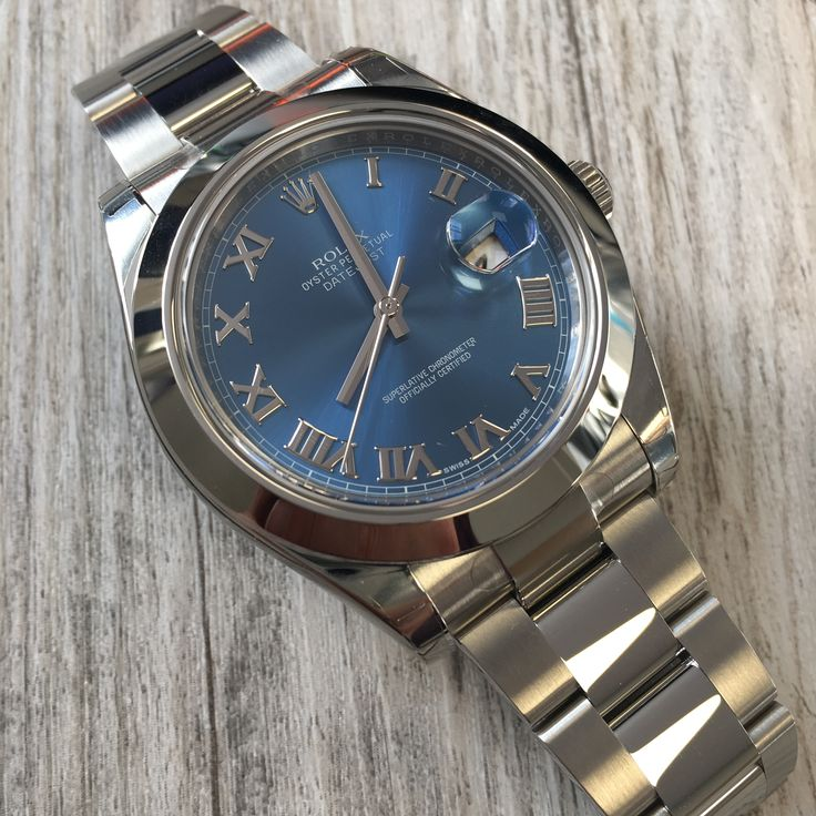 The only blues you should be feeling is the Rolex Datejust II Blue Roman Dial  Buy it now!