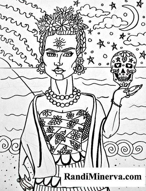 Frida coloring page by r minerva via flickr
