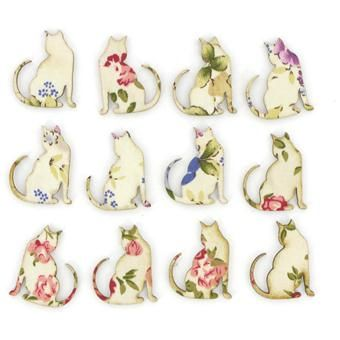 Floral cats - could totally see these as tattoos, maybe the cats as black silhouettes with the flowers as pops of colour - #cat #tattoo #cattattoo