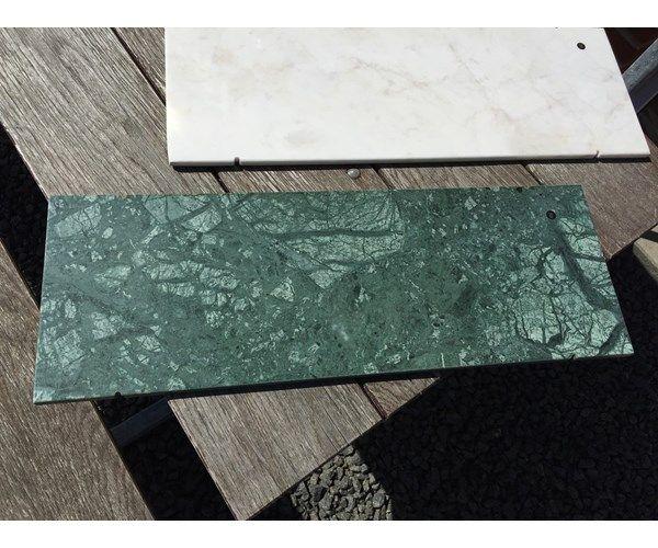 Marmor, Hvide og grønne marmor plader. SOM NYE!. bredde: 24