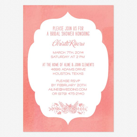 In Bloom Bridal shower invitation