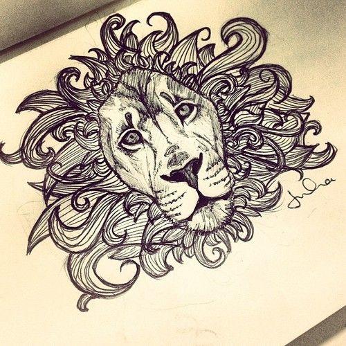 ornate lion drawing - Google Search