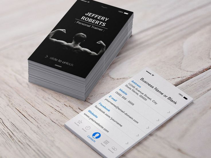 Customizable Creative and Unique Bodybuilder Personal Trainer Business Cards