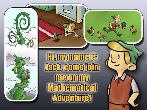 Finally! There is an app that consists of mathematical activities presented in both an appealing and fun way. The Jack and the Beanstalk a Mathematical Adventure storybook app for the iPhone and iPad will keep young children engaged! This app is designed for children at an early reading stage (K-3rd Grades).