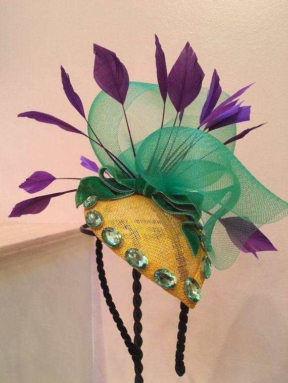 943184e94fc9f MARDI GRAS FASCINATOR! Carnival hat