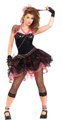 80's Diva Adult Costume - Rock Star Costumes