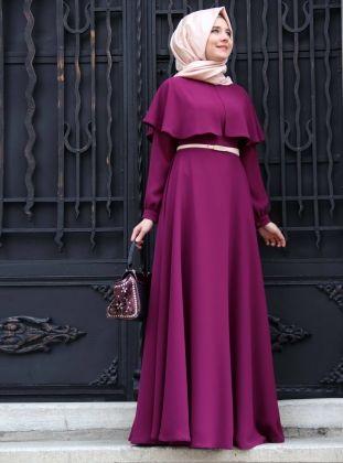 Pelerinli Elbise - Mürdüm - Mevra :: WebteUygun http://www.webteuygun.com/pelerinli-elbise-murdum-mevra.html
