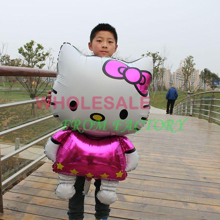 Бесплатная доставка 1 шт. 116 * 68 см привет китти большой шар фольгированные шары на день рождения декор свадебный ну вечеринку надувные Globos игрушки для детей
