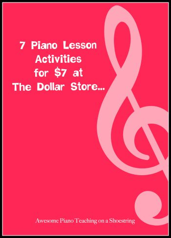7 Activities For $7.00… Amazing Piano Lessons.  5.Do you have a student who mixes up treble clef and bass clef? Grab some super cute snap bracelets and pop one on