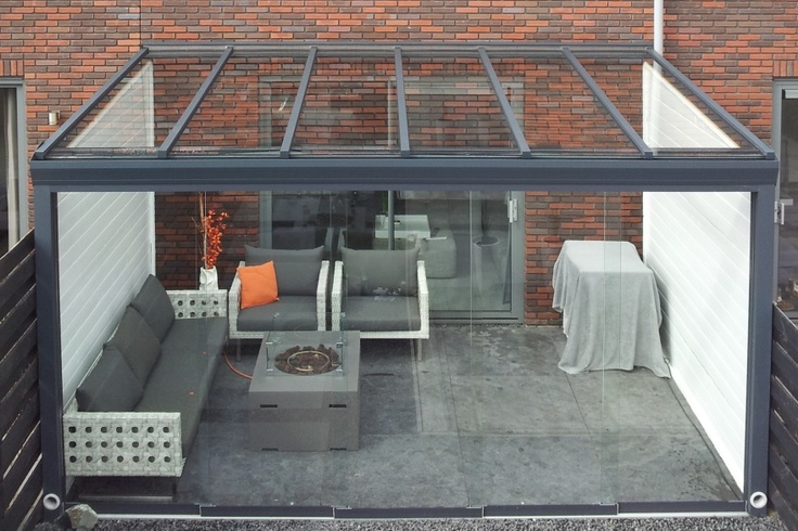Glazen - Glass - Glas - Veranda - Verandas - Patio - Porch - Roof - Terrace - Terras - Overdekt - Overkapping - Tuin - Garden ♥ Fonteyn