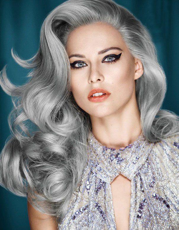 Серебристые волосы grannyhair – новый тренд сезона