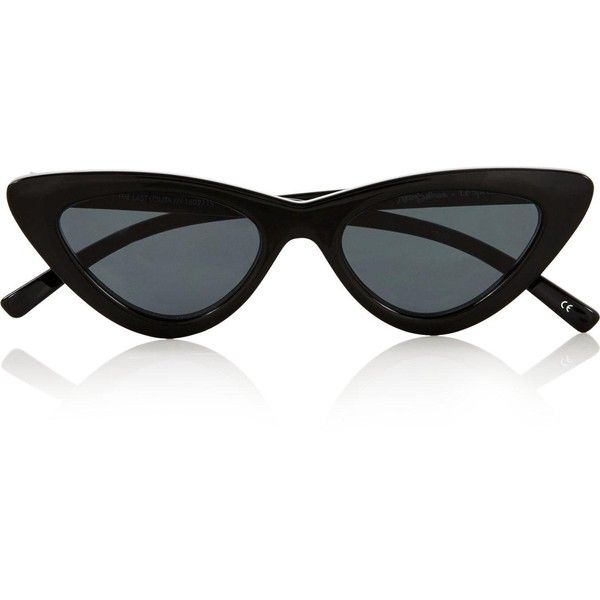 Le Specs Le Specs X Adam Selman ($97) ❤ liked on Polyvore featuring accessories, eyewear, sunglasses, glasses, le specs, one colour, cateye sunglasses, acetate glasses, uv protection sunglasses and cat-eye glasses
