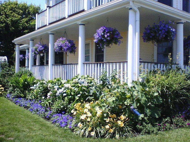 The Chic Technique Lavender Accent Landscaping Porch And Front Yard Ideas From
