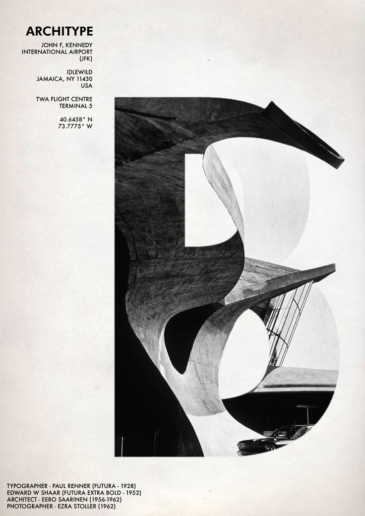 """""""Architype"""" by Tom Towle #design #typography #poster #layout"""