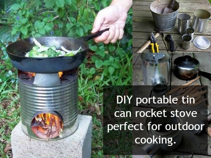 Diy portable tin can rocket stove http for Build your own rocket stove