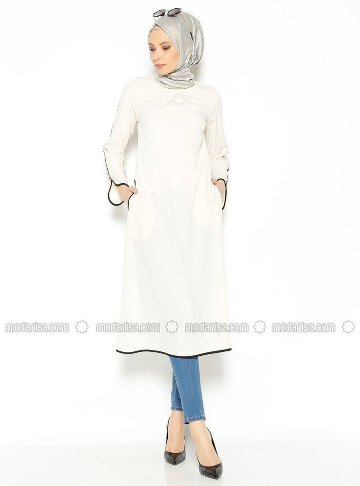 Bia detailed gowns - White - Tunics - Modanisa