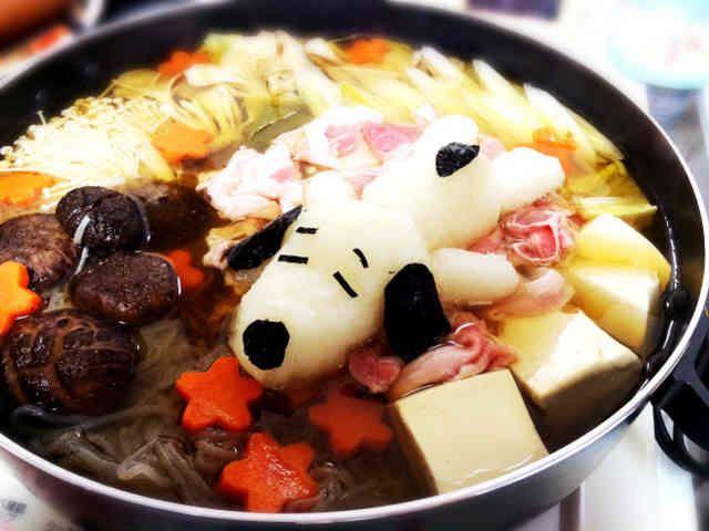 大根おろしスヌーピー鍋♡の画像