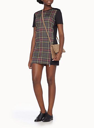 Twik Plaid Block Dress from Simons.