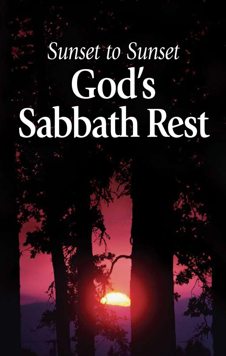 Bible study aid sunset to sunset god s sabbath rest