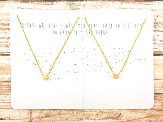 Delicate Star Necklace Set with Gift Card | Gold Star Necklace | Silver Star Necklace | Star Necklace | Reminder Jewelry | Minimalist Jewelry | Dainty Necklace | Best Friend Gift | Friendship Jewelry DESCRIPTION ✧ Two necklaces with star charm on handmade card ✧ 16K gold or rhodium