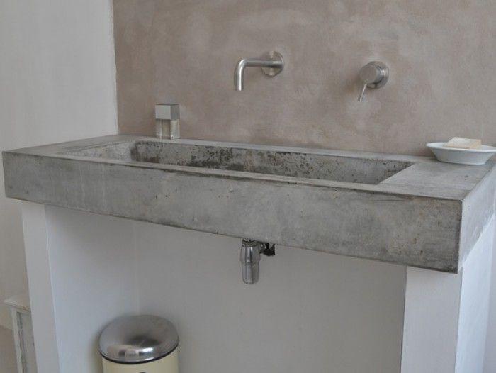 17 beste ideeën over Betonnen Wastafel op Pinterest  Beton badkamer, Betonne # Wasbak Maken_074958