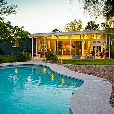Clear the view - Get a Mid-Century Modern Look - Sunset Clear the view This ranch house was built in the 1960s, but lacked the openness the homeowners wanted. Their solution: break down the exterior walls and replace them with glass walls and windows.
