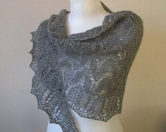 Shawl. Knit shawl. Lace shawl. Hand knitted shawl. by LaceKnit