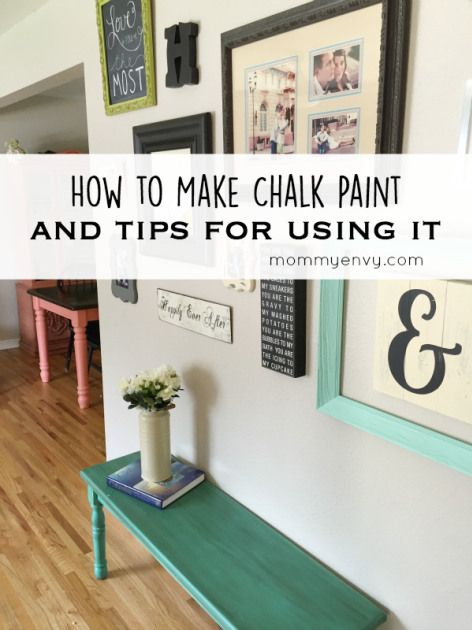 How To Make Chalk Paint And Tips For Using It On Www