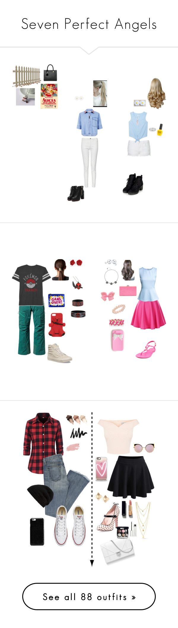 """Seven Perfect Angels"" by sierra-ivy on Polyvore featuring Topshop, Être Cécile, MANGO, Bling Jewelry, French Connection, Cheap Monday, Piggy Polish, megswag, Patagonia and JEM"