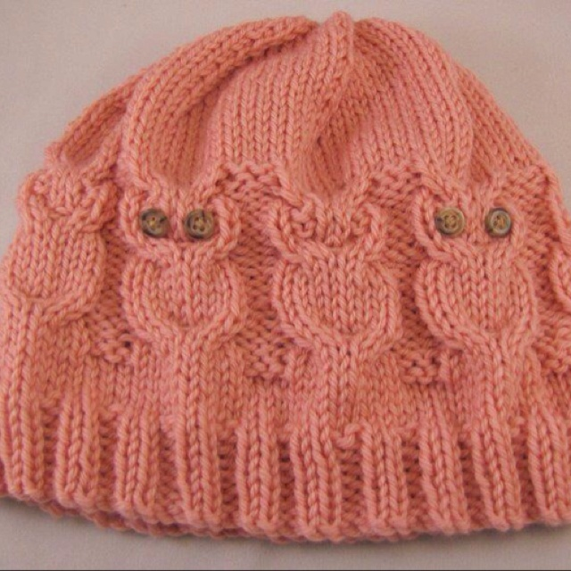 Owl hat...Wouldn't THAT be a cool crochet trick?!