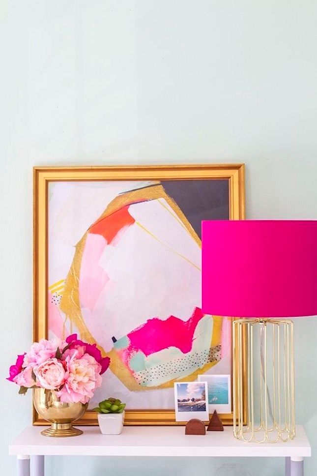 These are the biggest home decor trends on Pinterest, like pink accents.