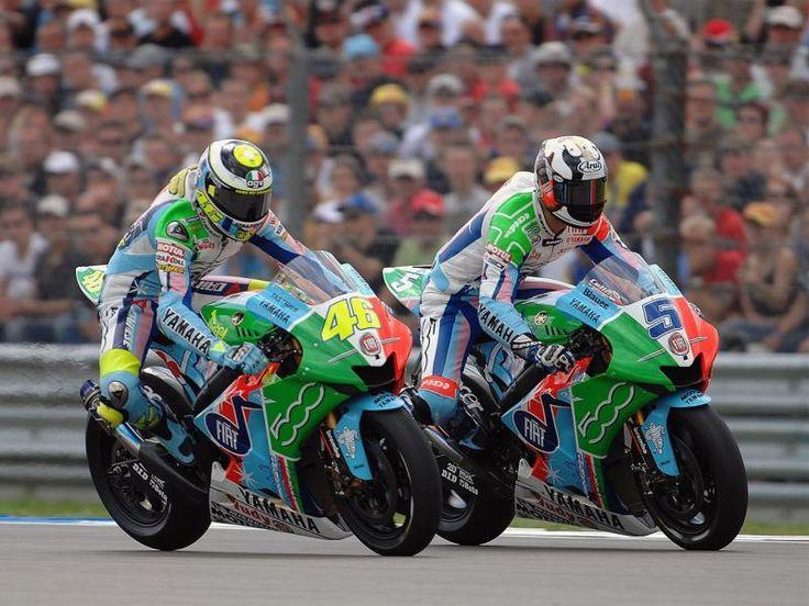 Colin Edwards and Valentino Rossi