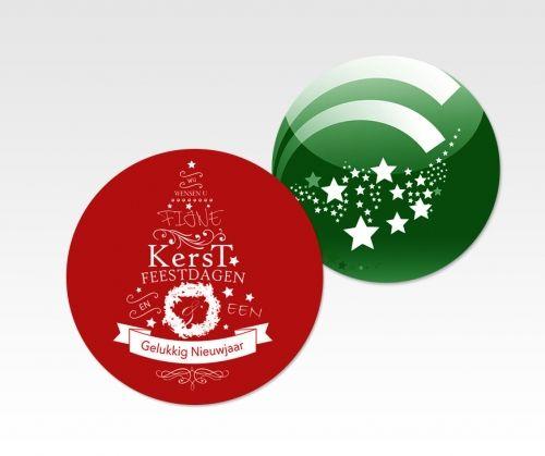 Kerstbal flyers - Een leuke variatie voor flyers in de feestdagen #flyers, #kerstballen, #kerstbalflyers