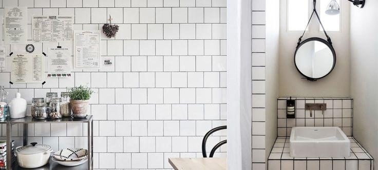 25 beste idee n over witte tegels op pinterest geometrische tegels keuken wandtegels en - Kleine keukenstudio ...