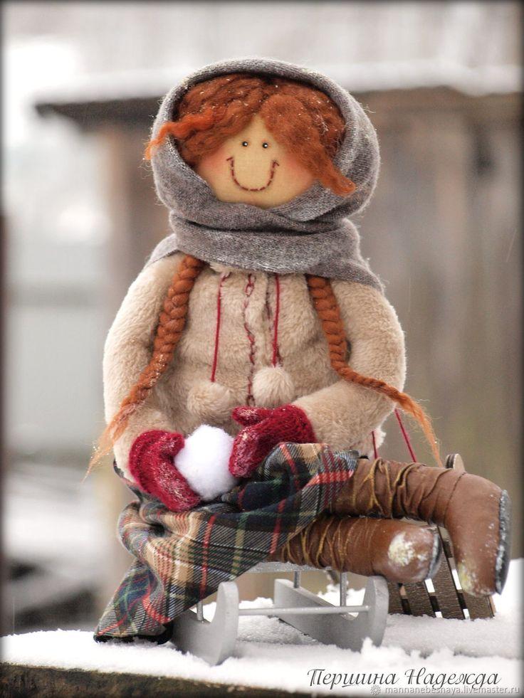 Fabric art doll | Купить Фея русской зимы. Девочка любящая зиму. Ароматизированная кукла в интернет магазине на Ярмарке Мастеров