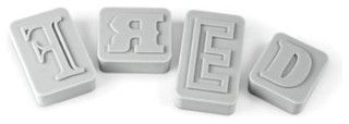 Fred and Friends Letterpress Type-style Cookie Cutter/Stamps - contemporary - kitchen tools - by Amazon