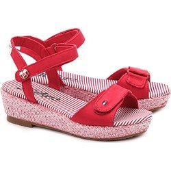 Sue 4D - Czerwone Canvasowe Sandały Dziecięce - FG56817046