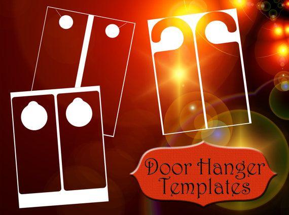Door Hanger Templates 8.5x11 sheets PNG bedroom do not disturb marketing hang hanging sign