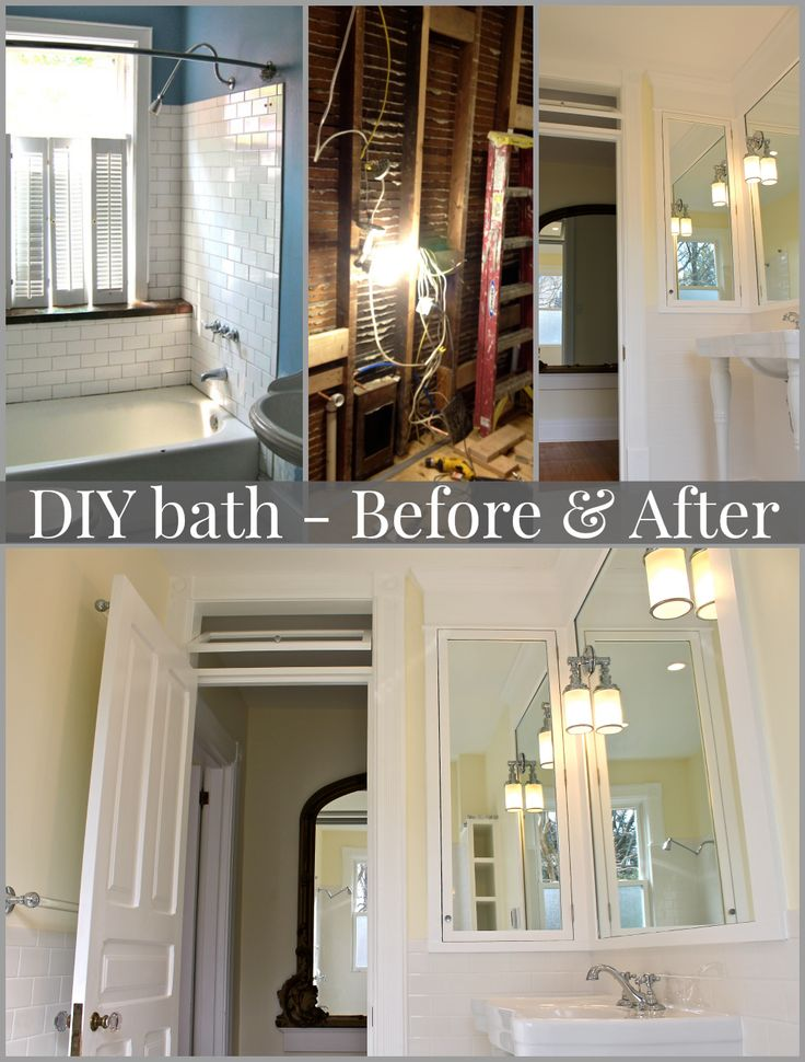 Vintage inspired diy bathroom remodel before and after photos cabinets window and pictures for Diy bathroom remodel before and after