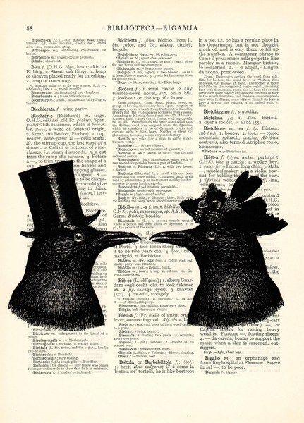 Stencils - Raven kunst woordenboek boekpagina - Een uniek product van Dictionary-vintage-book-page op DaWanda