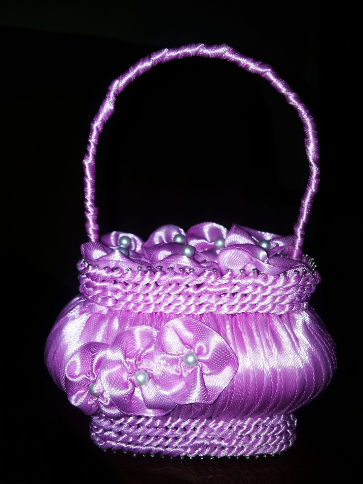Wonderful flower basket decoration made out of soap - you can found them on www.luxuryparadise.eu