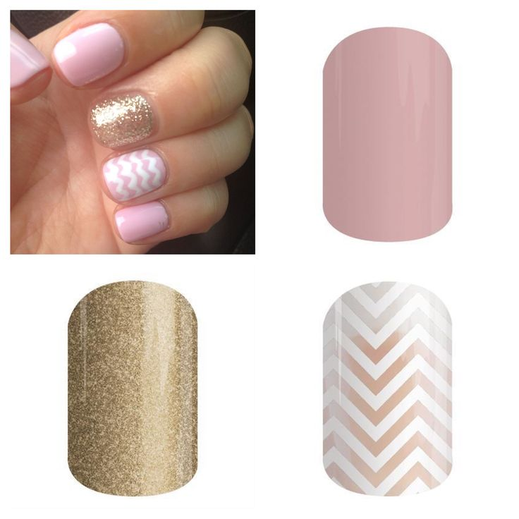 Get this romantic look with Daydream, Gold Sparkle and White Chevron