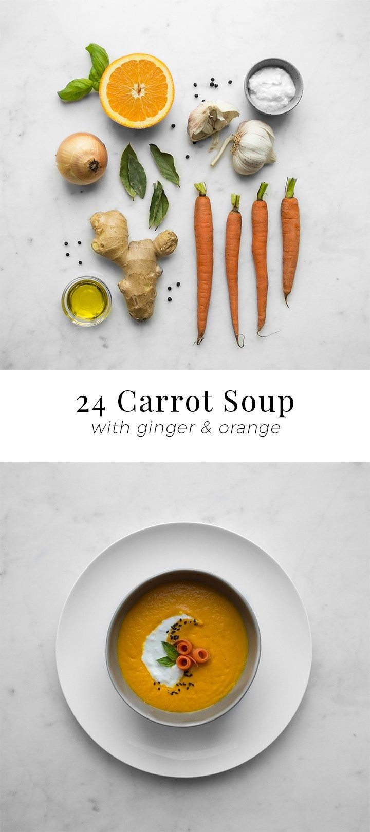 24 Carrot, Ginger and Orange Soup | Chef Sous Chef