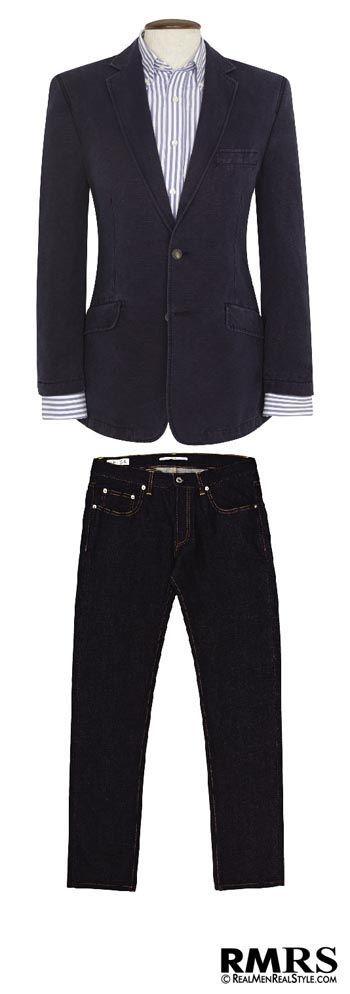 How To Wear A Blazer Jacket With Jeans   Matching Blazers With Denim #ArtieBobs #MensFashion