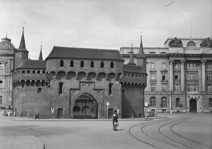 Barbakan. Kraków, 1938 rok.