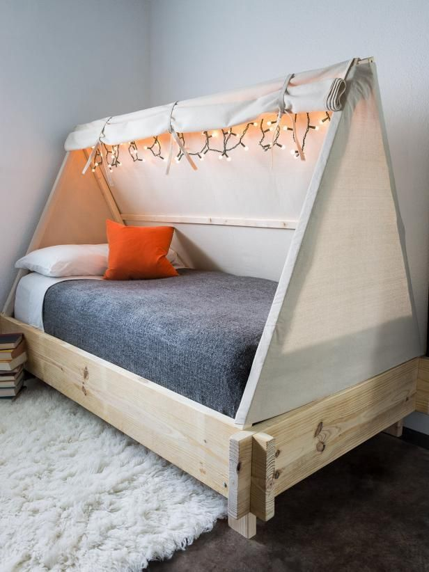 How To Make A Tent Bed Kids Bed Tent Bed Tent Diy Kids Bed
