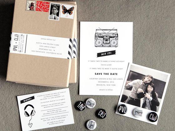 Interesante trabajo de diseño de invitaciones para bodas